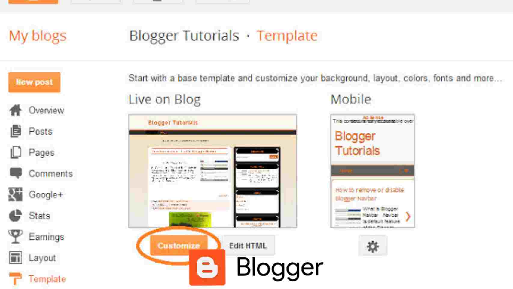 Google blogger limited themes and design