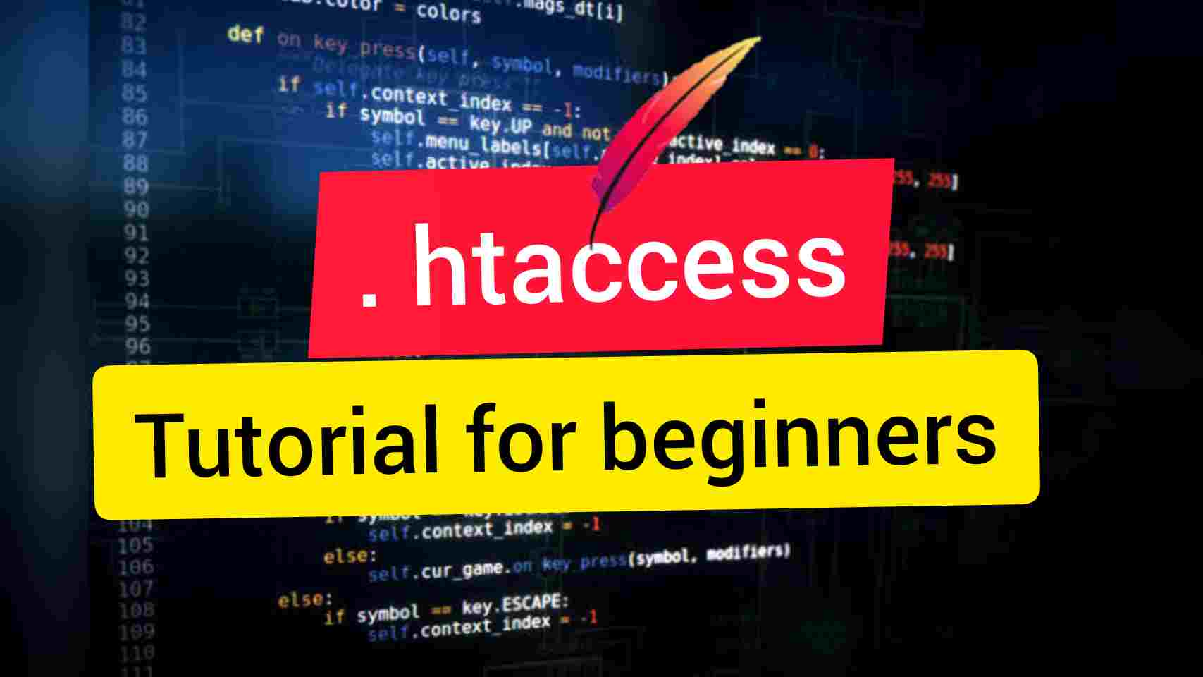 htaccess tutorial for beginners